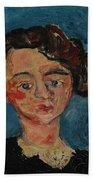 Chaim Soutine 1893 - 1943 Portrait De Jeune Fille Paulette Jourdain Beach Towel