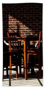 Chairs And Shadows Beach Towel