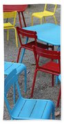 Chairs In Bryant Park Beach Towel by Lauri Novak
