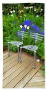 Chairs In The Garden Beach Towel