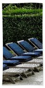 Chairs Of The Deck Beach Towel