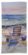 Chairs On The Beach Beach Towel