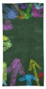 Chalk Drawing Colorful Arrows Beach Towel