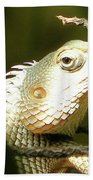 Chameleon Up-close 1 Beach Towel