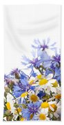 Chamomile And Cornflower Mix Beach Towel