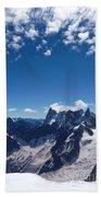 Chamonix Alpine View Beach Towel