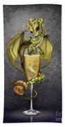 Champagne Dragon Beach Towel