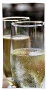 Champagne Glasses Beach Towel