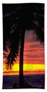 Champagne Sunset Beach Towel