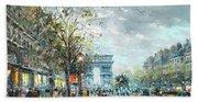 Champs Elysees Avenue, Paris Beach Towel