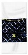 Chanel Bag Poster Beach Towel
