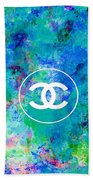 Chanel Blue White Red Black 10 Beach Towel