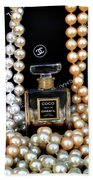 Chanel Coco With Pearls Beach Towel