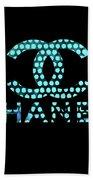 Chanel Light Blue Points Beach Towel