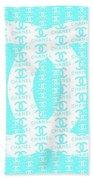 Chanel Logo Blue Teal White Beach Towel