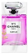 Chanel N 5 Perfume Print Beach Towel