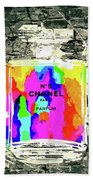 Chanel No. 5 Stone Wall Beach Towel