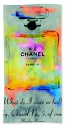 Chanel No.5  Beach Towel