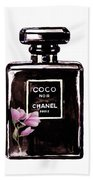Chanel Noir Magnolia Pink Beach Towel