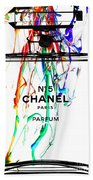 Chanel No. 5 White Beach Towel