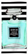 Chanel Perfume Turquoise Chanel Poster Chanel Print Beach Towel