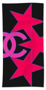 Chanel Stars-9 Beach Towel