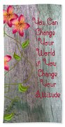 Change Your World Beach Sheet