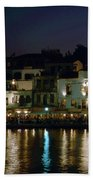 Chania By Night  Beach Towel