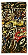 Chaos On The Track Beach Towel