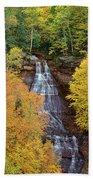 Chapel Falls Autumn Upper Peninsula Michigan Beach Towel