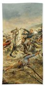 Charge Of The Seventh Cavalry Beach Towel
