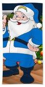 Chargers Santa Claus Beach Towel