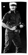 Charles Bronson In Raid On Entebbe 1977  Beach Towel