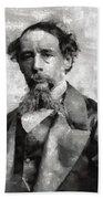 Charles Dickens Author Beach Towel