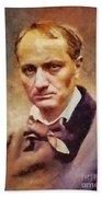 Charles Pierre Baudelaire, Literary Legend Beach Towel