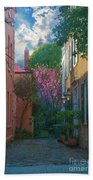 Charleston Alley In The Spring Beach Towel
