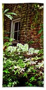 Charleston Alley Window Beach Towel
