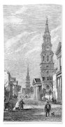 Charleston: Church, 1861 Beach Towel