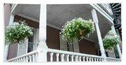 Charleston Historical District Front Porch Flowers - Charleston Homes Architecture Beach Sheet