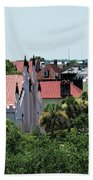 Charleston Rooftops - Queen And Church Streets Beach Towel