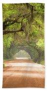 Charleston Sc Edisto Island Dirt Road - The Deep South Beach Towel