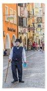 Charlie Chaplin In Innsbruck Beach Towel