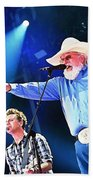 Charlie Daniels On Stage Beach Towel
