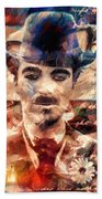 Charlot Colors And Poems  Beach Towel