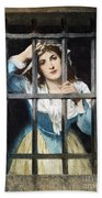 Charlotte Corday Beach Towel