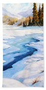 Charming Winter Beach Towel