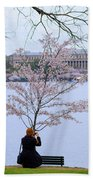 Chasing Blossoms Beach Towel