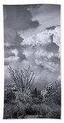 Chasing Clouds Again In Black And White  Beach Towel