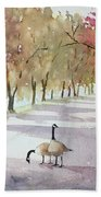 Chat In The Park Beach Towel