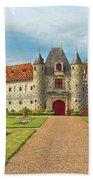 Chateau De Saint-germain-de-livet, Normandy, France Beach Towel
